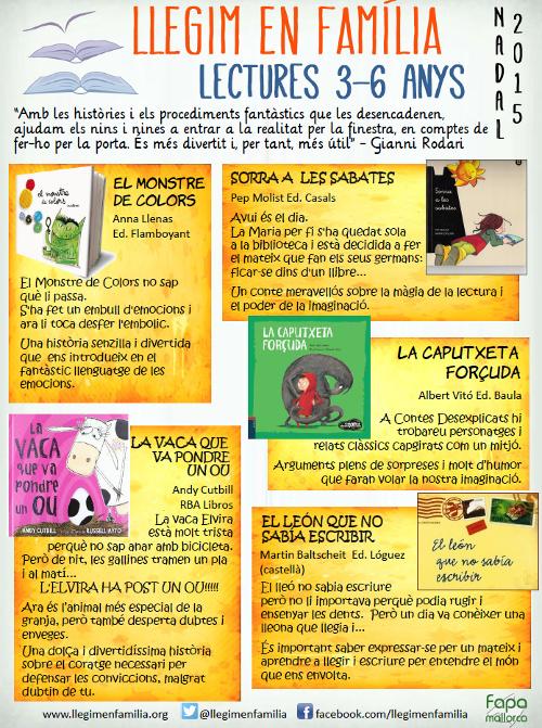 Recomenacions de lectura per infants de 3 a 6 anys