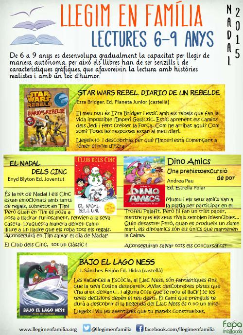 Recomenacions de lectura per infants de 6 a 9 anys