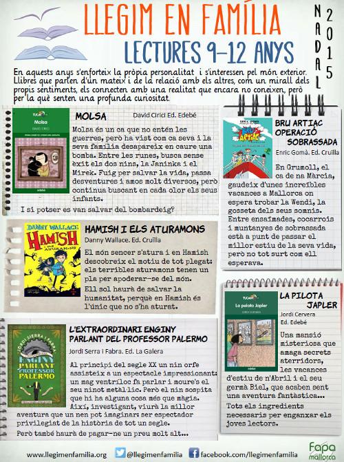 Recomenacions de lectura per infants de 9 a 12 anys